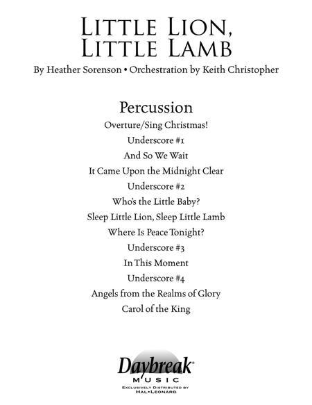 Little Lion, Little Lamb - Percussion