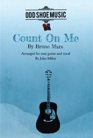 Count On Me for easy guitar and vocal