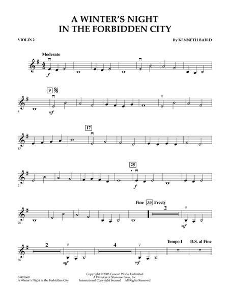 A Winter's Night in the Forbidden City - Violin 2