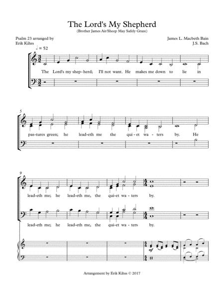The Lord's My Shepherd/Sheep May Safely Graze - SATB Chorale