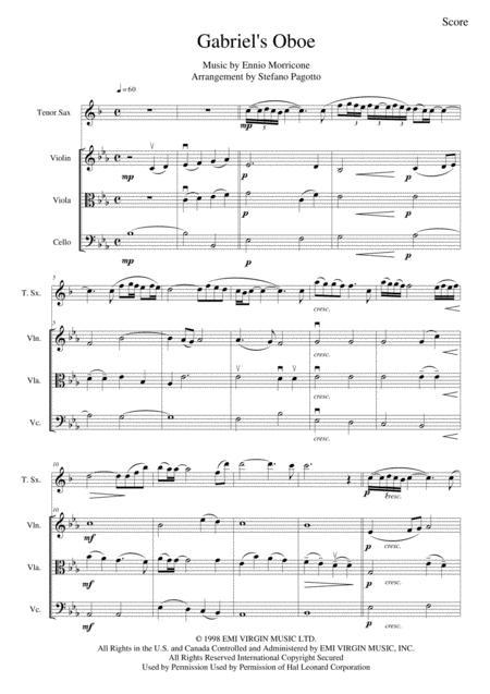 gabriel oboe sheet clarinet pdf