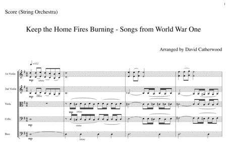 Keep the Home Fires Burning - Songs from World War One arranged for String Orchestra