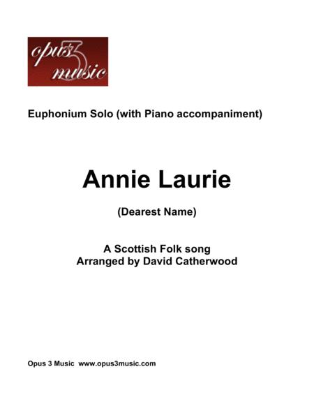 Euphonium solo - Annie Laurie (Dearest Name) with Piano accompaniment
