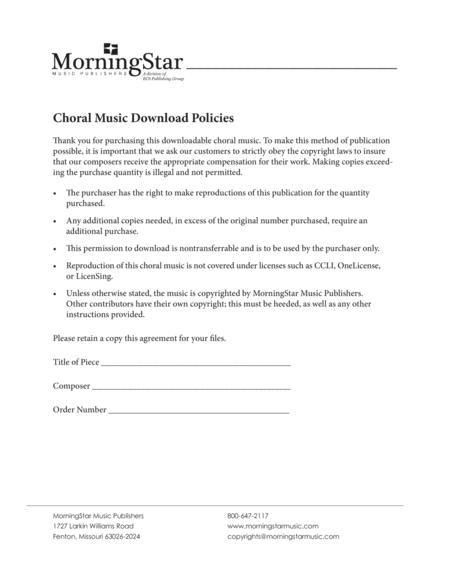 Gabriel's Message (Choral Score)