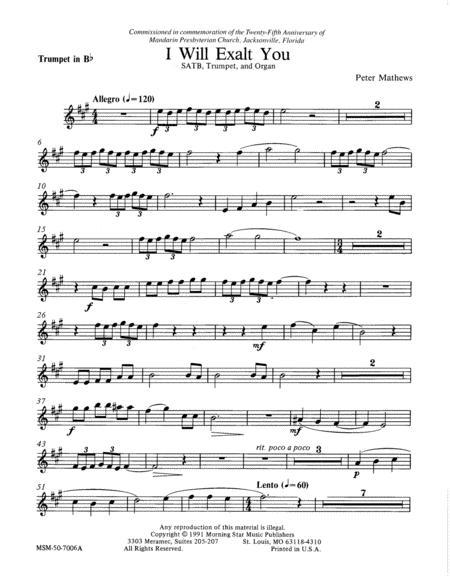I Will Exalt You (Trumpet Part)