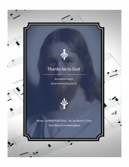 Thanks be to God - a hymn for SATB voices