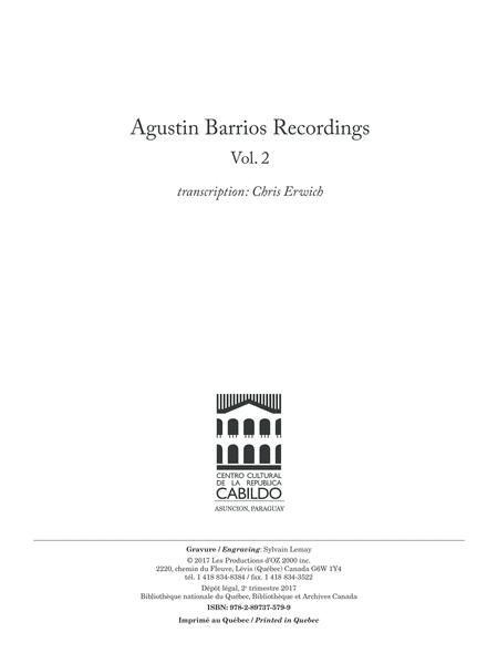 Agustin Barrios Recordings, Vol. 2