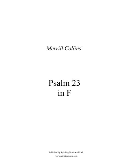 Psalm 23 in F - Full Score in F