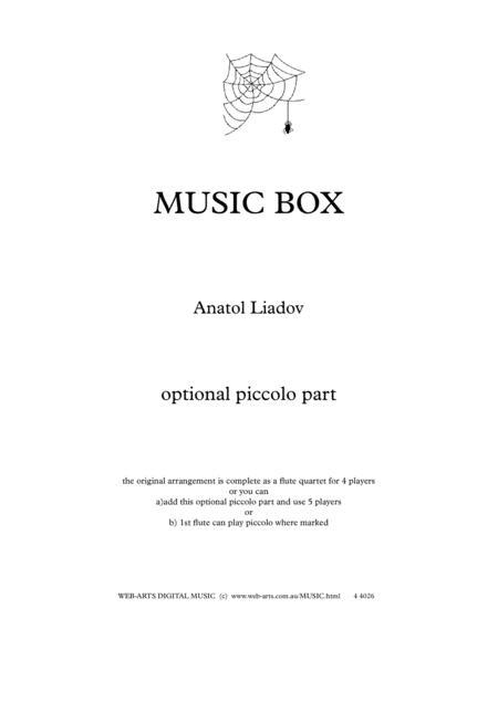 LIADOV MUSICBOX Optional Piccolo Part