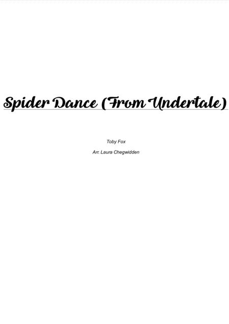 Spider Dance (from Undertale) for String Quartet