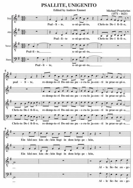 Psallite Unigenito A Cappella