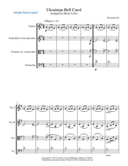 Ukrainian Bell Carol (Carol of the Bells) for STRING TRIO
