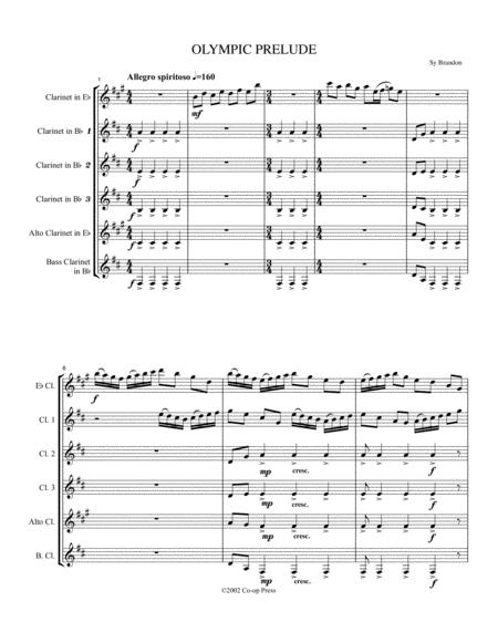 Olympic Prelude for Clarinet Choir
