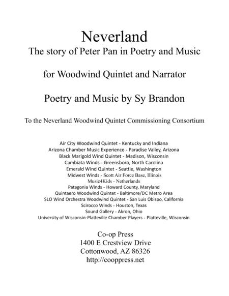 Neverland for Woodwind Quintet and Narrator