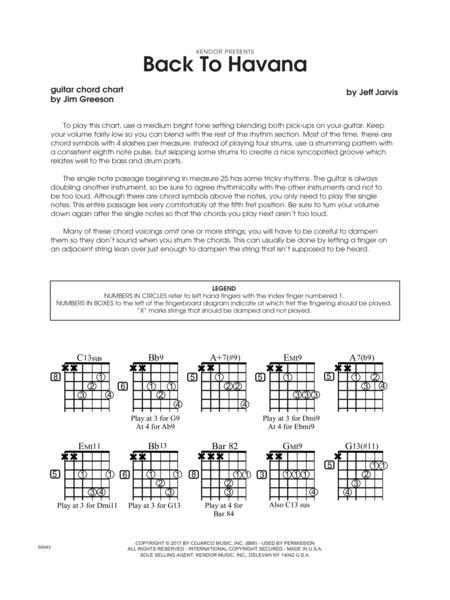 Download Back To Havana Guitar Chord Chart Sheet Music Sheet