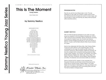 This Is The Moment (Professional Edition) - Full Score