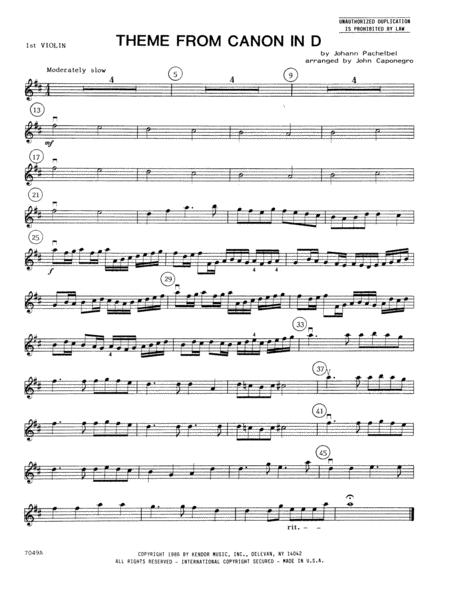 Theme From Canon In D - 1st Violin