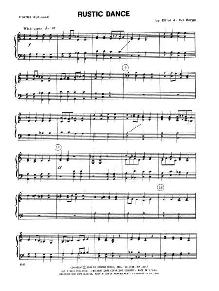 Rustic Dance - Piano Accompaniment