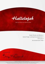 Hallelujah - Melody with Guitar Accompaniment