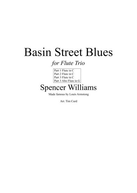 Basin Street Blues. For Flute Trio