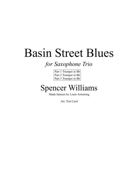 Basin Street Blues. For Saxophone Trio