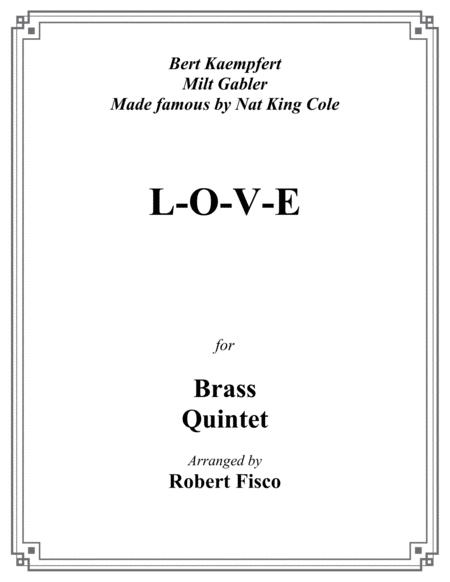 L-O-V-E for Brass Quintet
