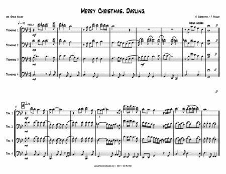Merry Christmas, Darling - TROMBONE QUARTET
