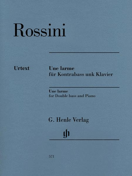 Une larme for Double bass and Piano