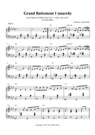 Grand Battement 1 (march) - Sheet Music for Ballet Class - from