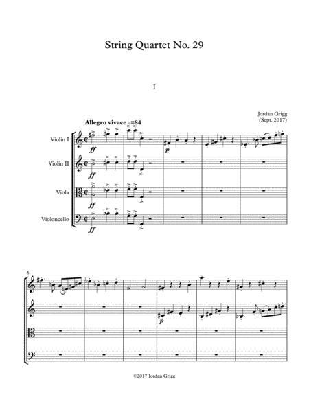 String Quartet No 29