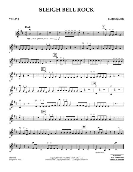 Sleigh Bell Rock - Violin 2