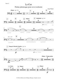 Ange Flégier: Le Cor for horn and orchestra, bassoon 1  part