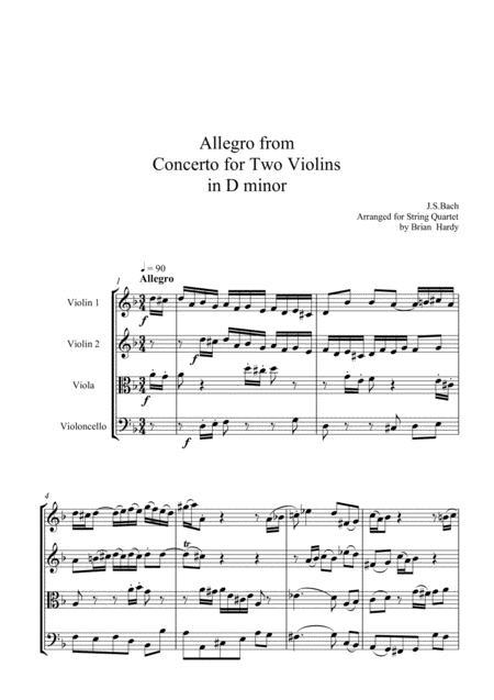 Bach Double Violin Concerto - Allegro