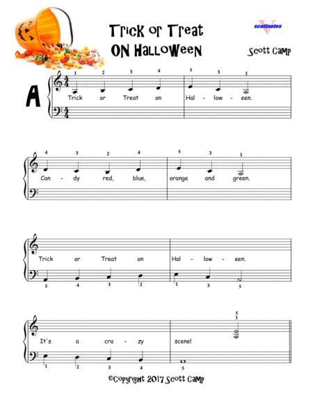 Download Trick Or Treat On Halloween Sheet Music By Scott