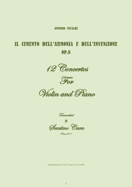 Vivaldi - Il Cimento dell'Armonia e dell'Invenzione Op.8 - 12 Concertos for Violin and Piano