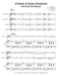 O Come, O Come, Emmanuel with O Come, Divine Messiah (for Brass Quartet)