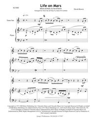 David Bowie: Life On Mars for Tenor Sax & Piano