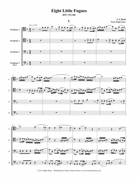 Eight Little Fugues for Four Trombones BWV 553-560