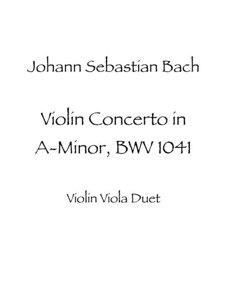Violin Concerto in A minor, BWV 1041