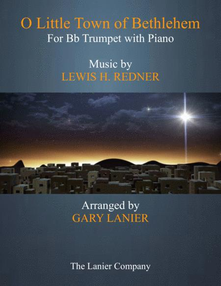 O LITTLE TOWN OF BETHLEHEM (Bb Trumpet with Piano & Score/Part)