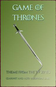 Game Of Thrones Theme, Duet for Clarinet and Alto Saxophone