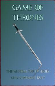 Game Of Thrones Theme, Duet for Alto Saxophone