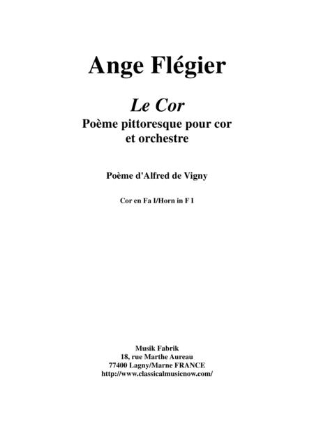 Ange Flégier: Le Cor for horn and orchestra: horn 1 (orch) part