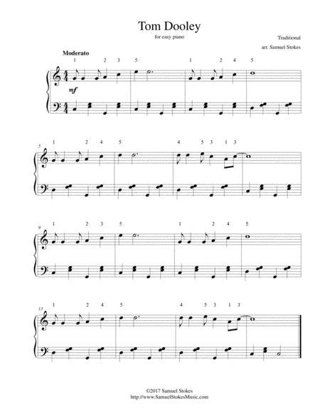 Tom Dooley - for easy piano