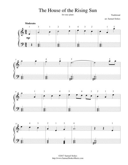 The House Of The Rising Sun For Easy Piano By By Traditional Digital Sheet Music For Download Print S0 266483 Sheet Music Plus,Mirrored Bathroom Cabinets Ikea