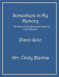 Somewhere In My Memory, arranged for Piano Solo