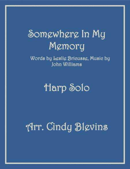 Somewhere In My Memory, arranged for Lever Harp