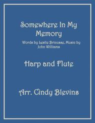 Somewhere In My Memory, arranged for Harp and Flute