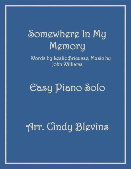 Somewhere In My Memory, Easy Piano Solo