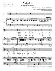 Schubert - An Sylvia - Medium Voice in F Major